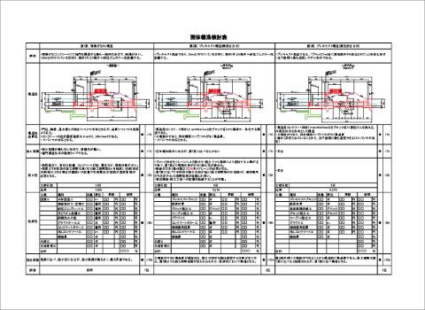 函体構造検討表